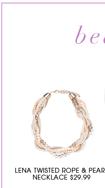 LENA TWISTED  ROPE  & PEARL NECKLACE