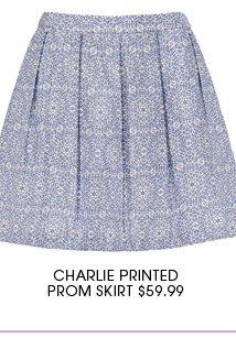 CHARLIE PRINTED PROM SKIRT