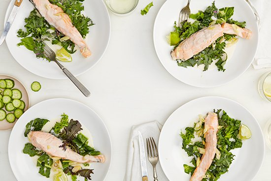 Coconut Poached Salmon