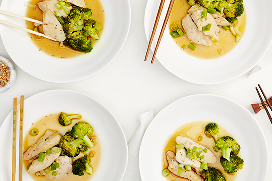 Pan-Steamed Chicken + Broccoli