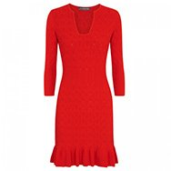 ALEXANDER MCQUEEN - Textured knitted jersey dress