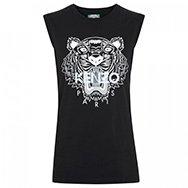 KENZO - Tiger print cotton jersey tank