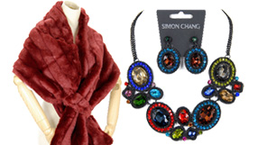 Simon Chang Jewelry and Scarves