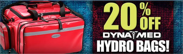 20 percent off Dyna Med Hydro Bags