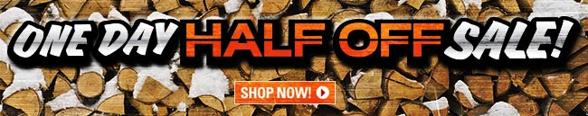 One Day HALF-OFF Sale!
