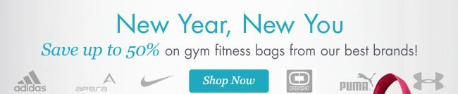 Save up to 50% on gym fitness bags!