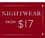 Cosy nightwear from $17