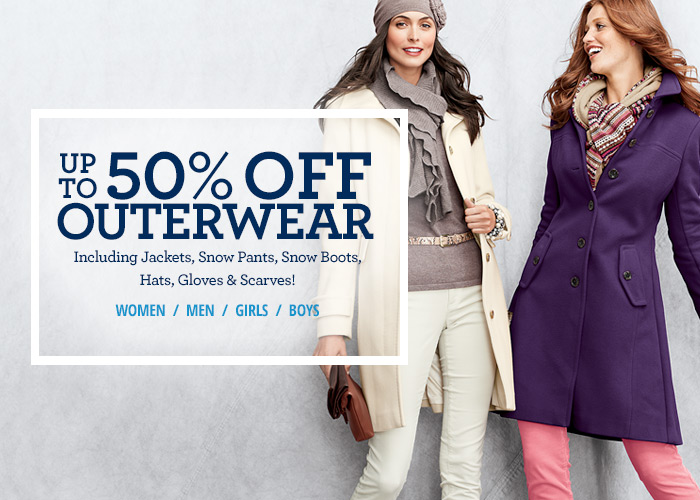 Up to 50% off outerwear