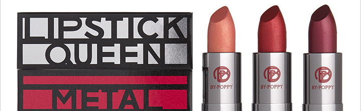 The latest from Lipstick Queen? The high-impact Metals trio.