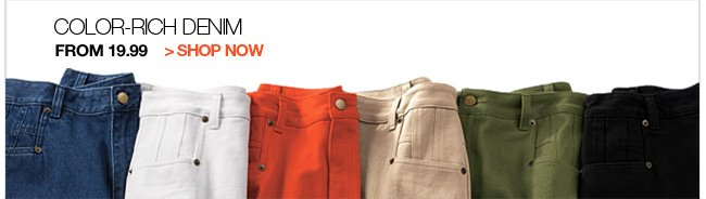 Color-Rich Denim From 19.99