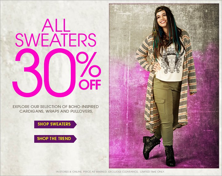 All Sweaters 30% OFF!