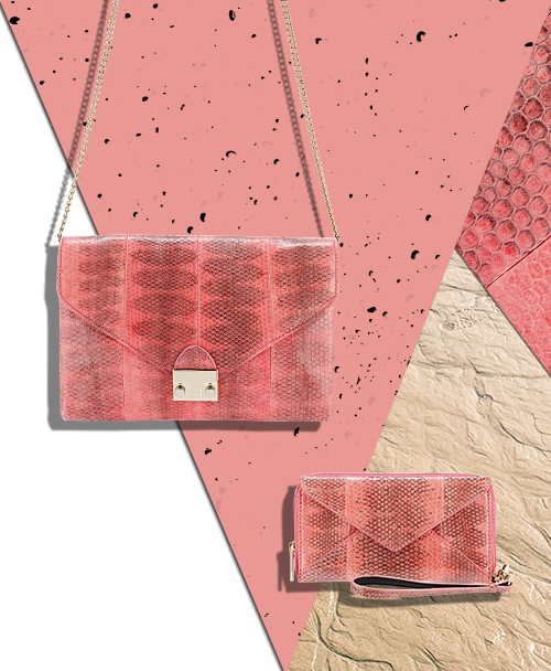 Shop our Best and Brightest Handbags in Flamingo Pink Snakeskin at the Official Loeffler Randall Store www.LoefflerRandall.com