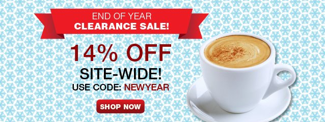 2014 is here! Take 14% off everything site wide when you order $75+ and use coupon: NEWYEAR