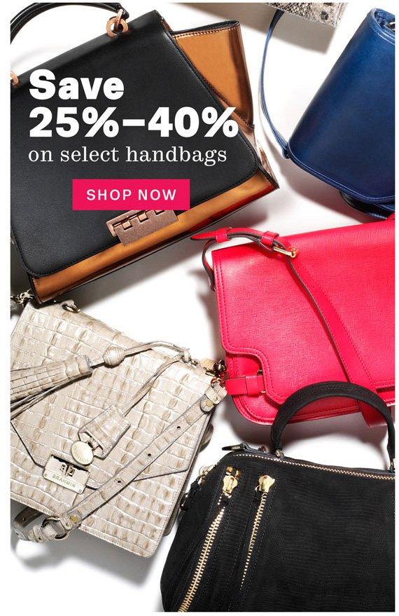 Save 25%-40% on Select Handbags. Shop Now.