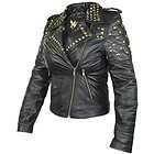 Xelement Womens Classic Leather Rebel Stud Jacket