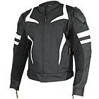 Vulcan 'VTZ-940' Mens Black/White Armored Motorcycle Jacket