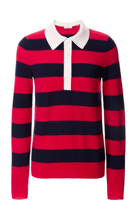 Preppy Stripe Deandra Polo