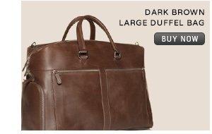 DARK BROWN LARGE DUFFEL BAG