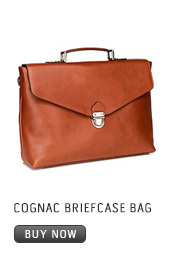 COGNAC BRIEFCASE BAG