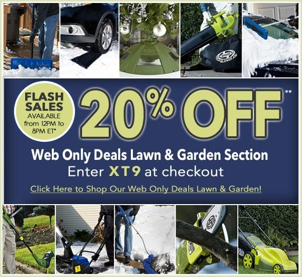 20% OFF** Lawn and Garden