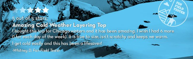 Amazing cold weather layering top