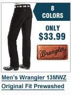 Mens Wrangler 13MWZ Prewash Jeans
