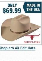 Sheplers 4X Hats