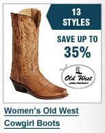 Womens Old West Boots