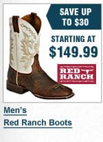 Mens Red Ranch Boots
