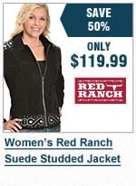 Womens Suede Studded Jacket
