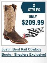 Men's Justin Bent Rail Boots