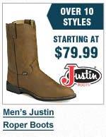 Mens Justin Roper Boots