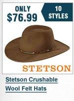 Stetson Crushable Hats