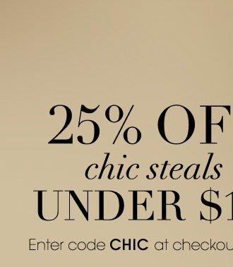 25% OFF chic steals