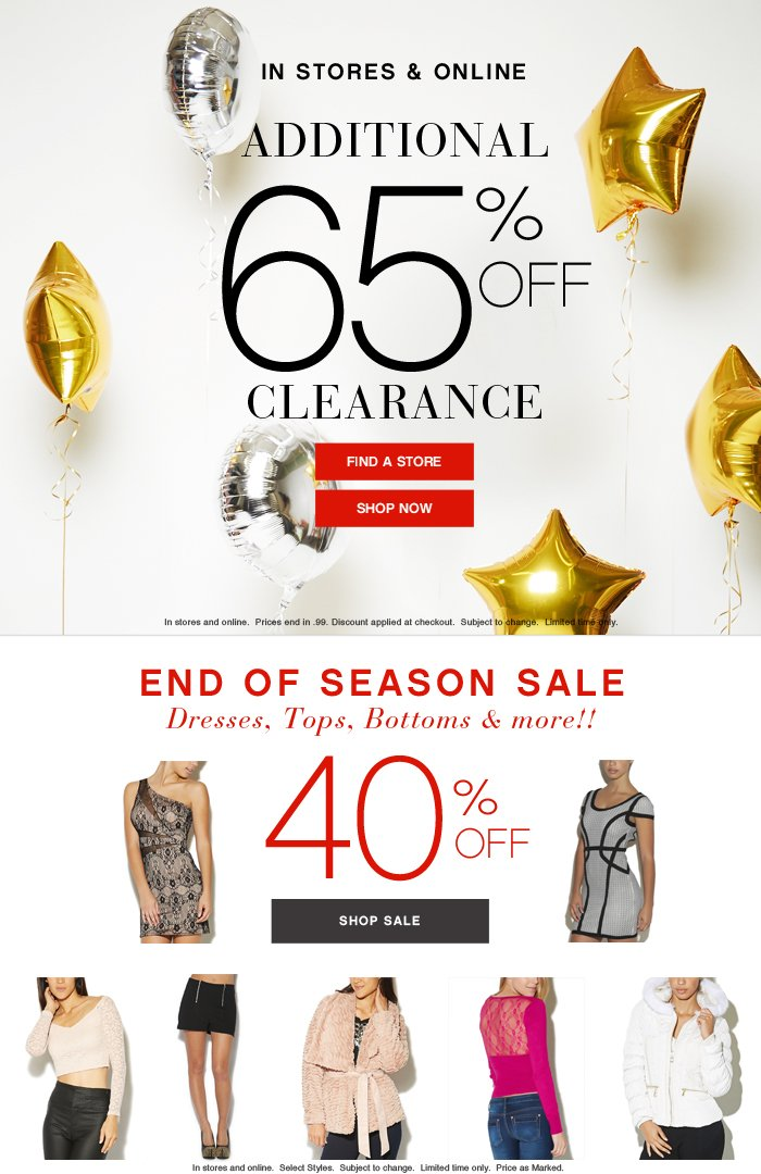 additional 65% clearance
