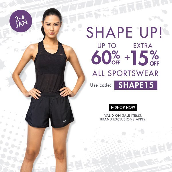 Sports Sale - Get up to 60% + 15% off!