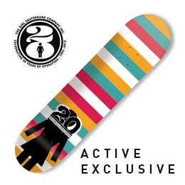 Girl Exclusive 20 Year Striped OG Deck title tag: Girl Exclusive 20 Year Striped OG Deck