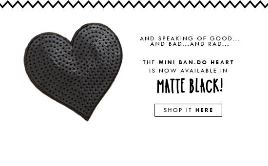 ban.do mini heart in matte black