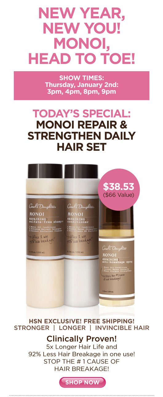 Monoi Repair and Strengthen Daily Hair Set