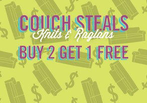 Shop Buy 2 Get 1 Free: Knits & Raglans