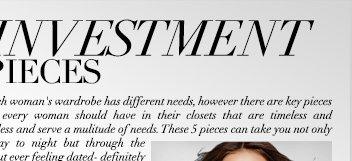 5 investment pieces