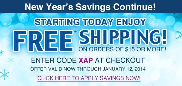 FREE* Shipping!