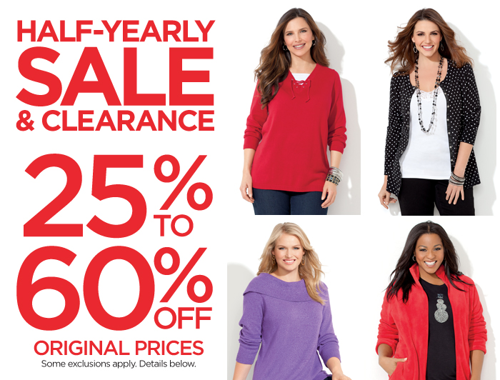 Half Yearly Sale & Clearance 25%-60% Off