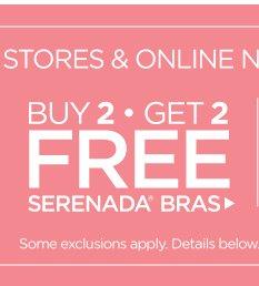 Buy 2 Get 2 Serenada Bras Free