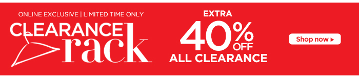 Clearance Rack: Extra 40% Off All Clearance