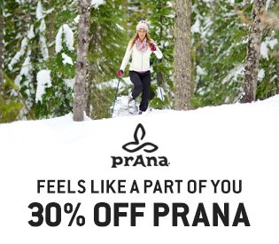Up to 30% Off prAna