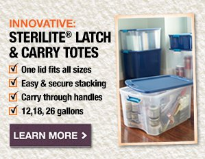 Sterilite Latch & Carry Totes