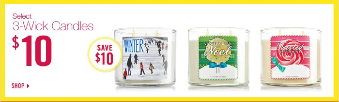 3-Wick Candles – $10