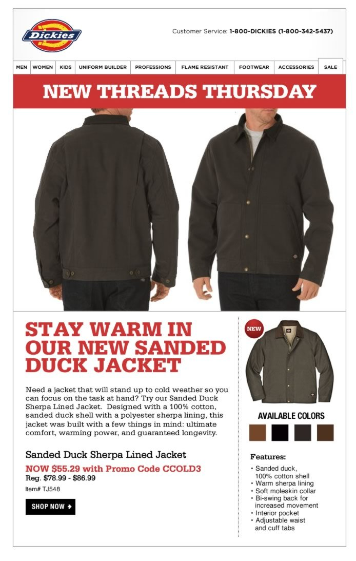 New Threads Thursday: Sanded Duck Sherpa Lined Jacket