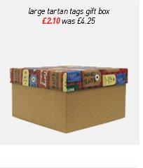 large tartan tags gift box